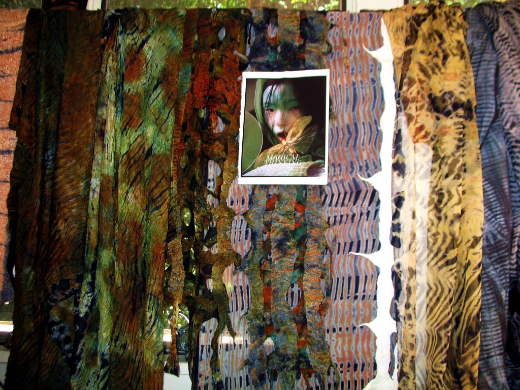 "Magical Thinking....Hand-dyed shibori Fabrics with magazine ""W"" photo"