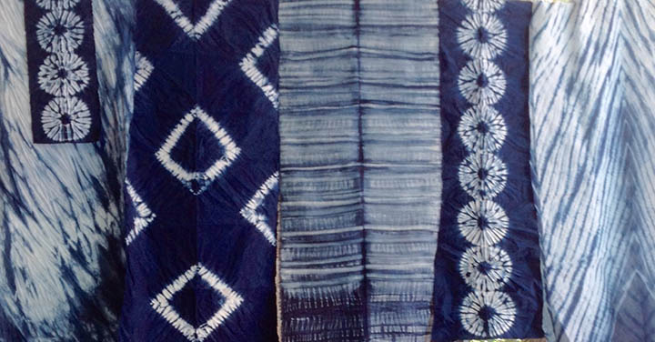 Introduction to Indigo and stitched (NUI) Shibori